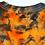Thumbnail: Adult Large Spooky Spider Halloween Tie Dye Crop Top