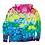 Thumbnail: Large Mystical Rainbow Gradient Tie Dye Hoodie Zip-up