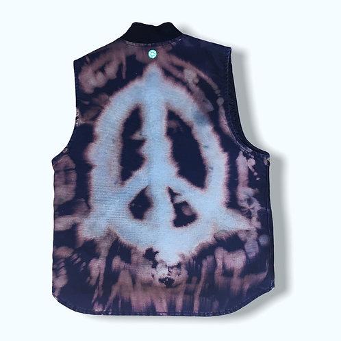 Men's Medium Carrhart Peace Bleach Tie Dye Vest