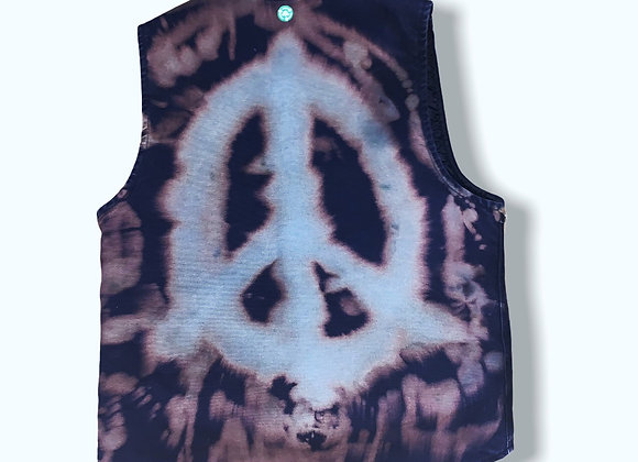 Men's Medium Carrhart Peace Bleach Tie Dye Vest