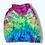 Thumbnail: XL Mystical Rainbow Gradient Tie Dye Zip Up Hoodie