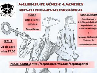 Conferencia Violencia de Género en Menores (Fecha: 21.4)