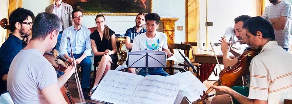 La pyramide de macarons (2018) Quartet for flute and string trio