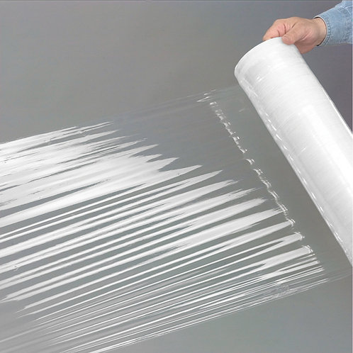 "Stretch Wrap Film 18"" x 1500' x 80 Gauge Clear For Hand Dispenser"