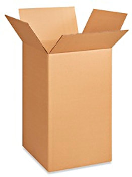 """18 x 18 x 28"""" 350 lb. Double Wall Dish Corrugated Boxes"""