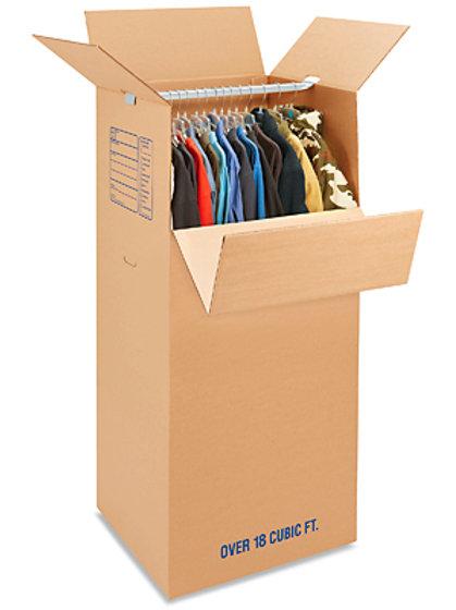"24 x 20 x 46"" 51 ECT Double Wall Wardrobe Box Kit"