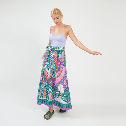 Garzas Wrap Maxi Skirt