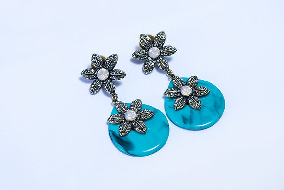 Sundrop floral multi-stone earrings