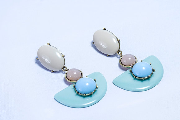 Safari multi-stone pastel earrings