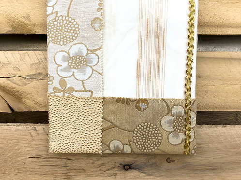 Gold and white multi-patterned photo frame