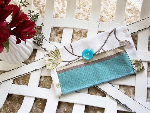 White  and  blue  medium  card  holder