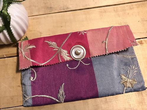 Pink, purple and blue floral medium bag
