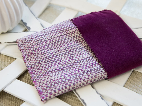 Purple  woven  small  card  holder
