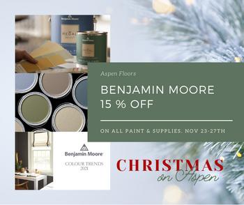 15% off Benjamin Moore