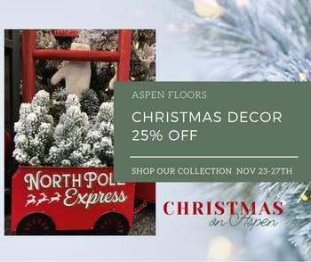 25% off all Aspen Floors Christmas Decor
