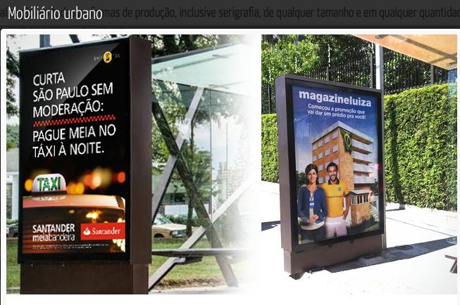 Mobiliario urbano - Abrigo de onibus SP.