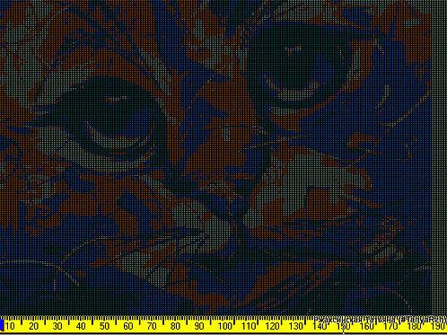 Рисунок для программы KnittStyler, морда кота, вариант 1