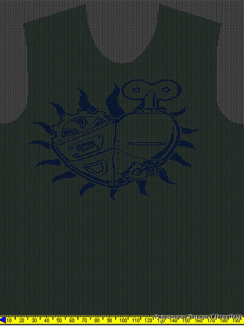 Рисунок для программы KnittStyler, сердце в стиле стимпанк