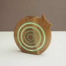Walnut Light Sculpture
