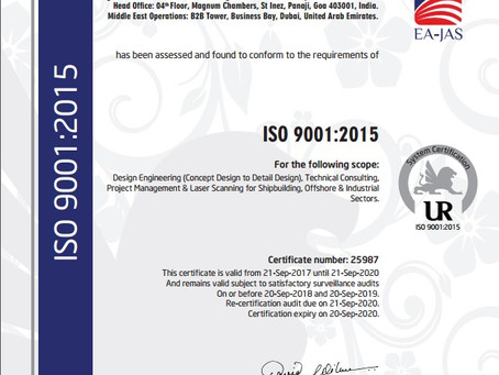 Buoyancy Consultants is Certified ISO 9001:2015 & ISO 27001:2013