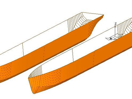 Completed Basic design for Passenger ferry Catamaran type