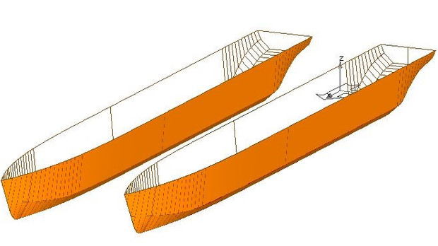 Completed Basic design for Passenger ferry Catamaran type