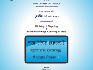 Participated at Indian chamber of commerce on Maritime summit- rejuvenating waterways and coastal sh