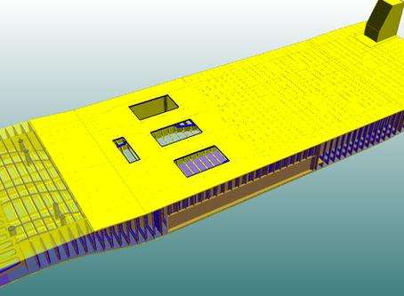 Basic Design work done for Pushboat