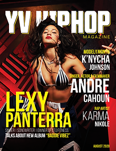 YV Hip Hop August Cover - Lexy Panterra.