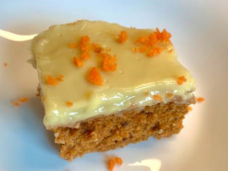 Healthy Vegan Carrot Cake with Lemon Custard!