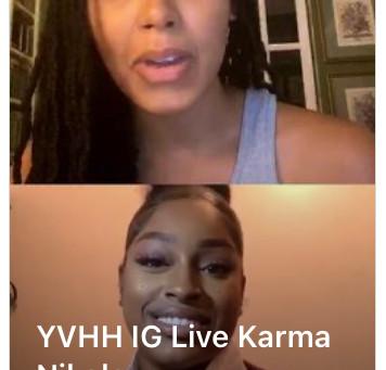 YVHH IG Live with Karma Nikole