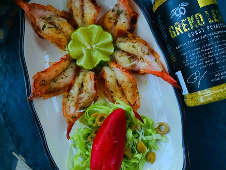 Grilled Shrimps (In Greko Seasoning)