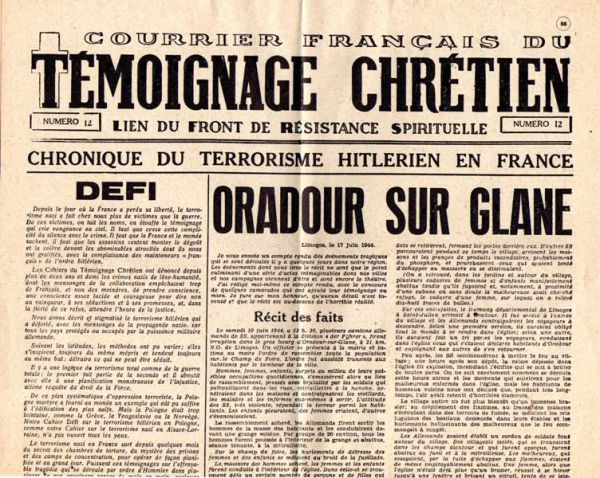 """""""Le droit au Blasphème"""" dans Témoignage Chrétien"""