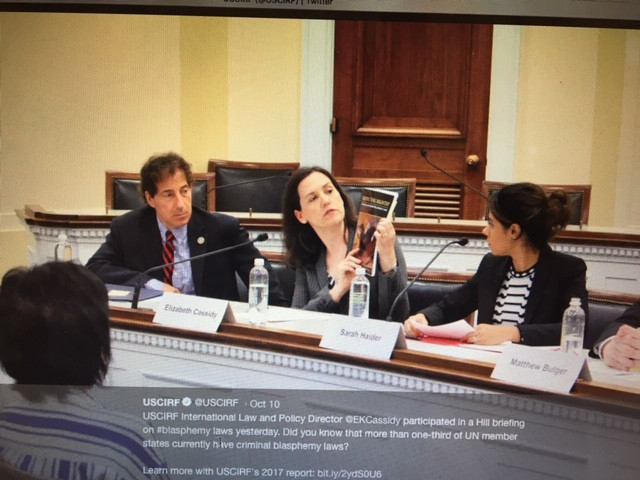 """USCIRF presents """"Respecting Rights?"""" report to House staff in DC"""