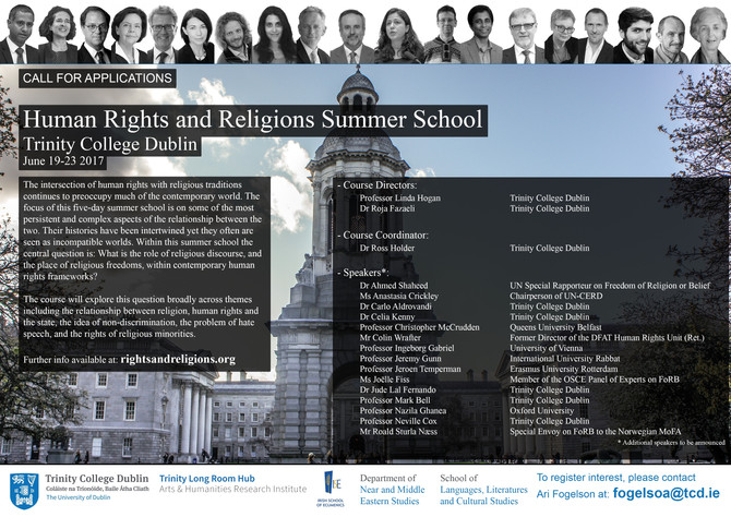 "Conference ""Human rights & religions"", Dublin, 19-23 June 2017"
