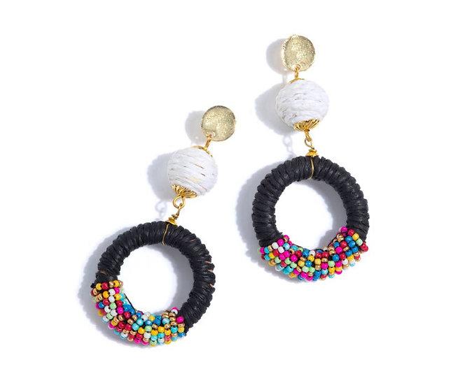 Veronique Earrings - Black