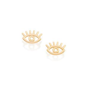 18k Gold Evil Eye Earring
