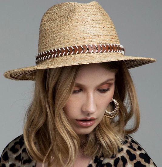Natural raffia Panama hat