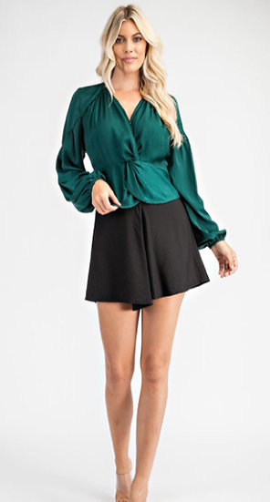 Front Knot  Blouse (Green)