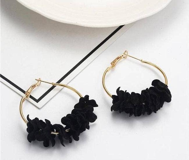 Floral Hoop (Black)