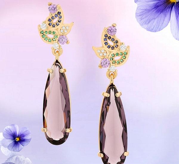 Violet Glam Earring