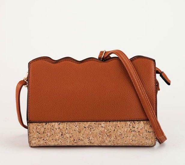 Brown with Cork Body Bag