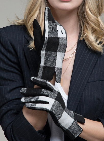Black/ White Touchscreen Gloves