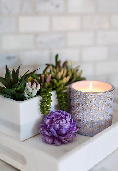 Garden Terrace Lavender Fields Concrete Candle