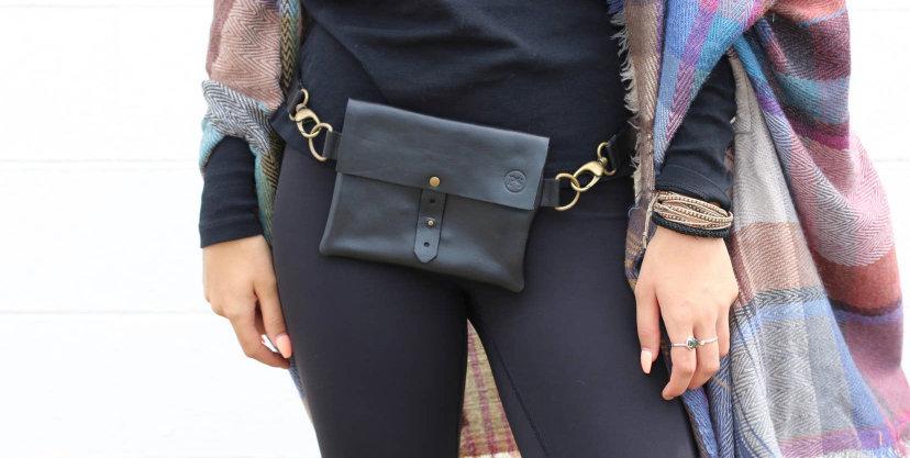 Italian Leather Belt Bag