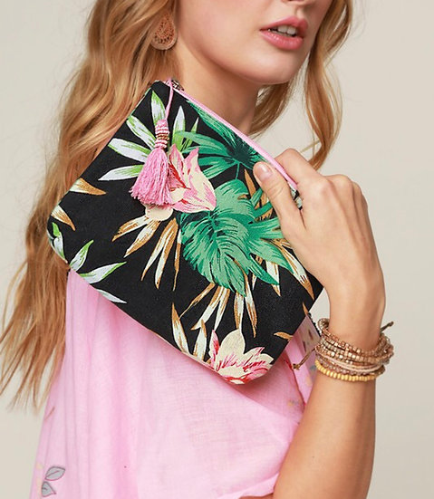 Paradise zippered pouch