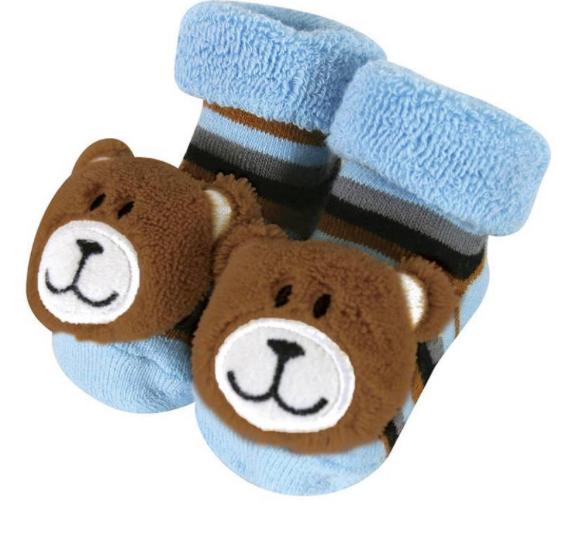 Baby Bear Rattle Socks