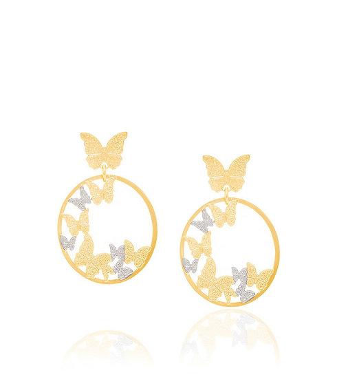 Butterfly Gold Plated Earrings