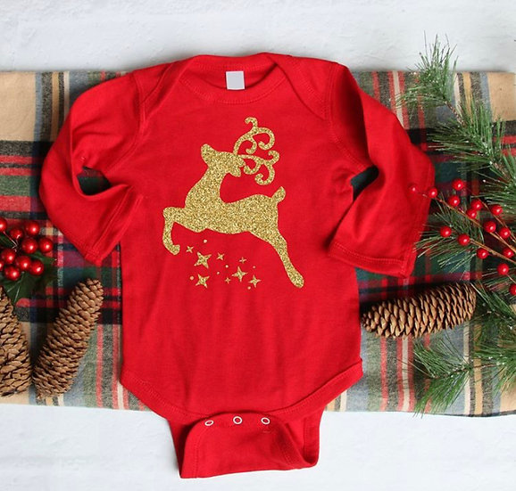 Reindeer bodysuit long sleeves