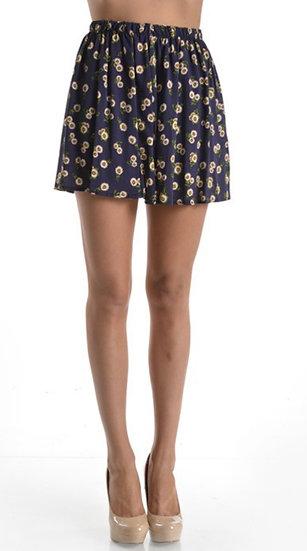 Floral Skirt Printed Mini Skirt